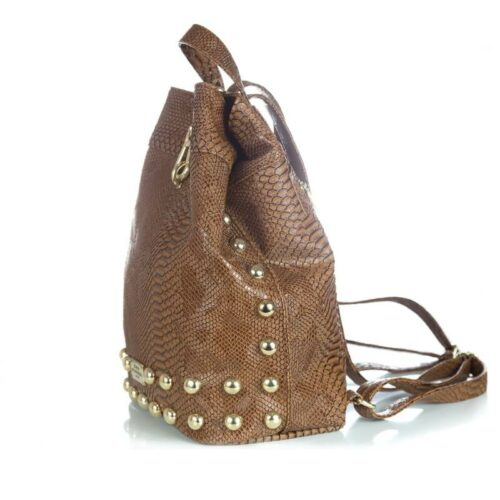 Backpack Croco Pattern Brown