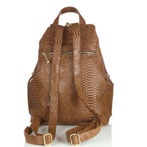 Backpack Croco Pattern Brown