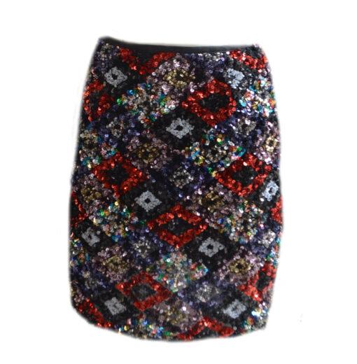 Rombus Sequin Skirt