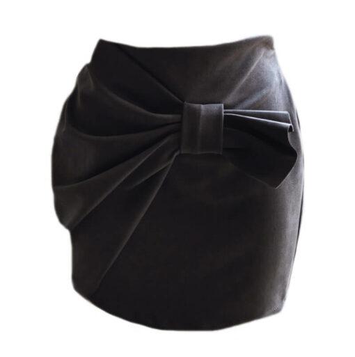 The Bow Mini Skirt - Black