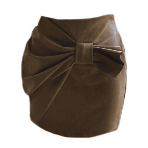 The Bow Mini Skirt - Cognac