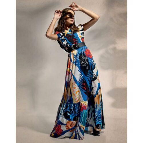 Peace & Chaos Underwater Maxi Dress