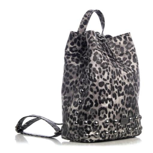 Elena Athanasiou Backpack Animal Print Black - Nikel