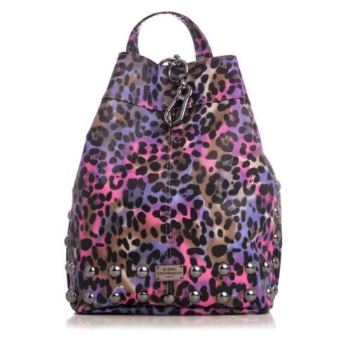Elena Athanasiou Backpack Animal Print Purple - Nikel