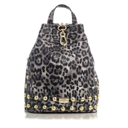 Elena Athanasiou Backpack Animal Print Black - Gold