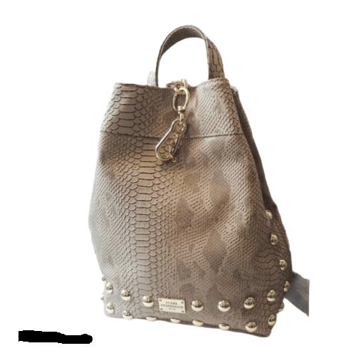 Elena Athanasiou Backpack Croco Creme - Gold