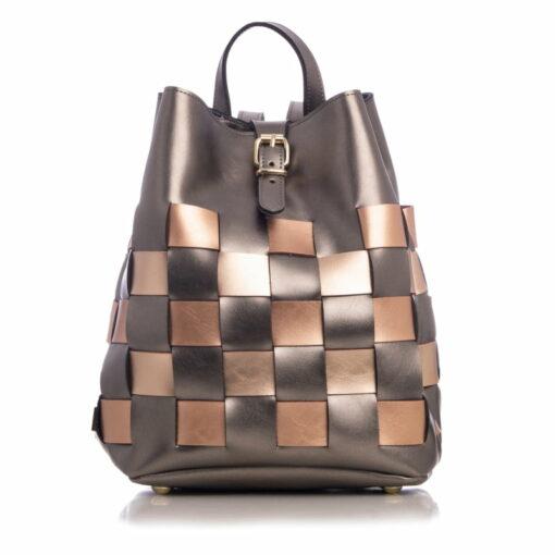 Elena Athanasiou Straw Backpack Multicolored Grey