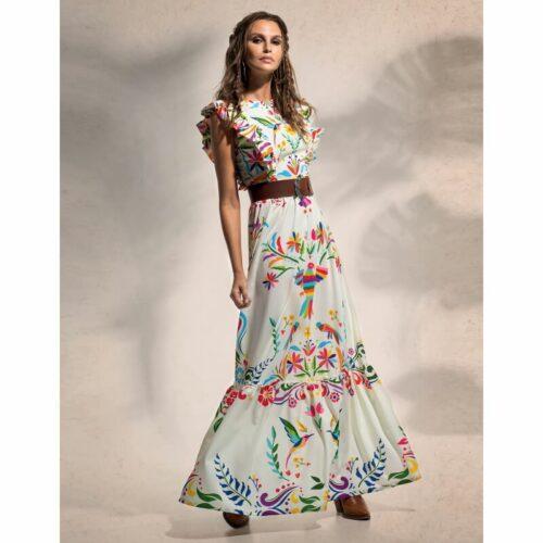 Peace & Chaos Folklore Maxi Dress