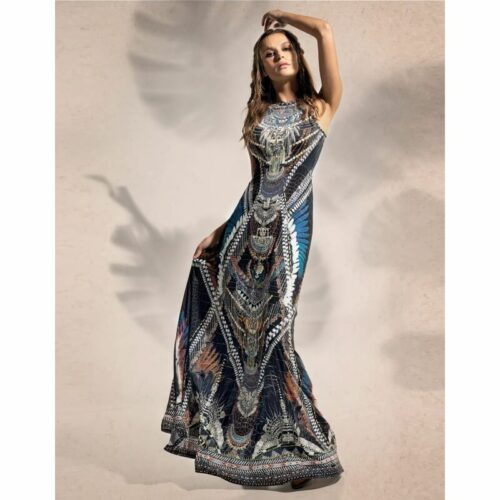 Peace & Chaos Ornament Bodycon Dress