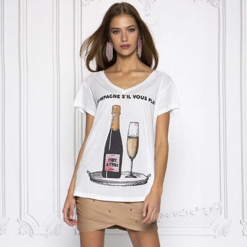 Peace & Chaos Champagne s'il Vous Plait t-shirt