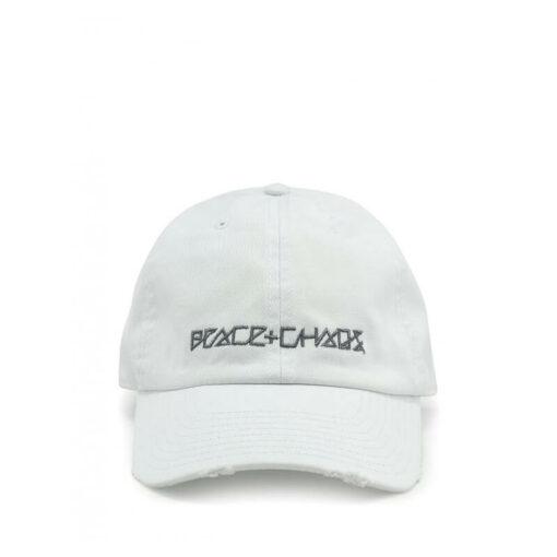 Peace & Chaos Baseball Cap - White