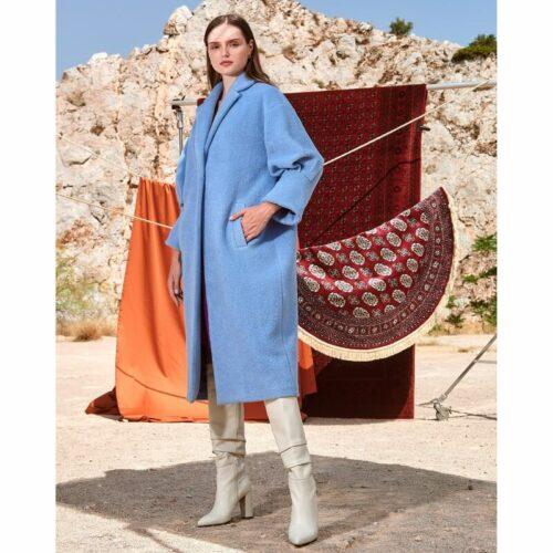 Nema oversized coat - Baby blue